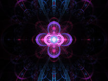 Nuclear cold fusion abstract fractal background Royalty Free Stock Images