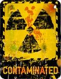Nuclear contamination. Radiation o. nuclear contamination warning, vector illustration Stock Photos