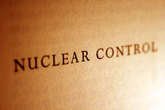 Nuclear control Stock Photography