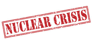 Nuclear crisis red stamp Stock Images