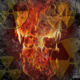 Nuclear danger. Symbol of a Nuclear danger Stock Photography