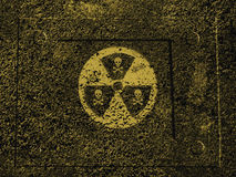 Nuclear danger. Warning sign : radiation, nuclear danger Royalty Free Stock Photo