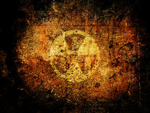 Nuclear danger. A Warning sign : nuclear danger Stock Images