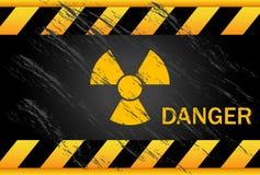 Nuclear Danger Background. Nuclear danger warning black background Stock Images