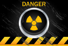 Nuclear Danger Background. Nuclear danger warning black background Royalty Free Stock Photos