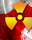 Nuclear danger background Royalty Free Stock Photography