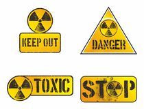 Nuclear danger sign Stock Photo