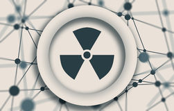 Nuclear danger sign Royalty Free Stock Photo
