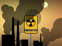 Nuclear danger warning Stock Photos