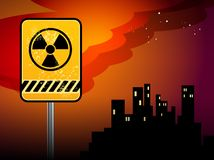 Nuclear danger warning Royalty Free Stock Photos