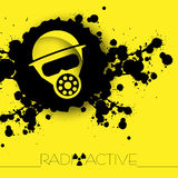 Nuclear danger warning background Royalty Free Stock Photos