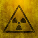 Nuclear dangerous sign Royalty Free Stock Images