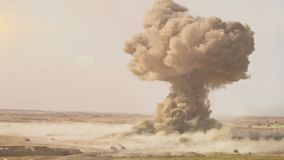 A Full Nuclear Detonation. A Nuclear Detonation. Realistic animation stock video