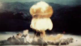 A Full Nuclear Detonation. A Nuclear Detonation. Realistic animation vector illustration