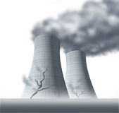 Nuclear disaster with radiation Stock Photography