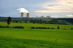 Nuclear electric power station. Temelin in the South Bohemian stock images