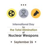 Nuclear elimination day Royalty Free Stock Image
