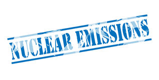 Nuclear emissions blue stamp Stock Images