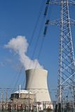 Nuclear energy. A nuclear power plant for generating electricity Stock Photos