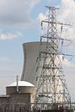 Nuclear energy. Electricity from a nuclear power plant Stock Images