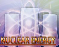 Nuclear energy Abstract concept digital illustration Stock Photo