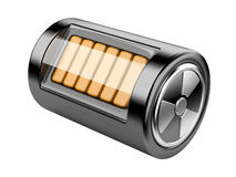 Nuclear energy battery Royalty Free Stock Images