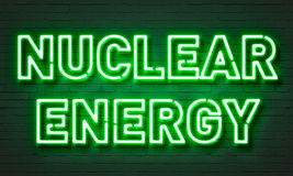 Nuclear energy neon sign Stock Image