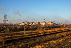 Nuclear energy and pollution. Bigest  Nuclear Power Station. Stock Photos