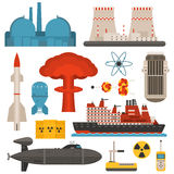Nuclear energy vector illustration Royalty Free Stock Image