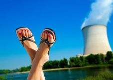 Nuclear environmental issues metaphor Stock Photos