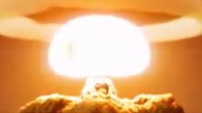Nuclear explosion stock footage