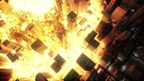 Nuclear explosion in the city