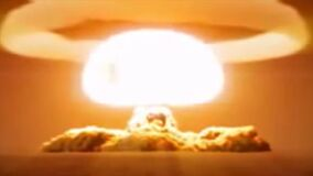 Nuclear explosion with great destructive power