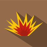 Nuclear explosion icon, flat style. Nuclear explosion icon. Flat illustration of nuclear explosion vector icon for web Royalty Free Stock Photo
