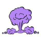 Nuclear explosion icon, icon cartoon Royalty Free Stock Images