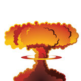 Nuclear explosion mushroom cloud. A nuclear weapon exploding, forming a mushroom cloud Stock Photos