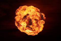 Nuclear explosion in an outdoor setting. Symbol of environmental protection and the dangers of nuclear energy. Royalty Free Stock Image