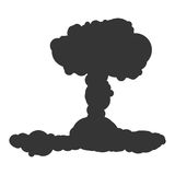 Nuclear explosion sign illustration. Vector. Black icon on white background. Nuclear explosion sign illustration. Vector. Black icon on white background Stock Photos