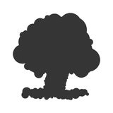 Nuclear explosion sign illustration. Vector. Black icon on white background. Nuclear explosion sign illustration. Vector. Black icon on white background Stock Photography