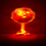 Nuclear explosion vector background Stock Photography