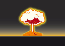 Nuclear explosion vector Royalty Free Stock Image