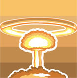 Nuclear Explosion vector Stock Images