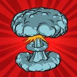 Nuclear explosion, war. Comic book cartoon pop art retro illustration Stock Image