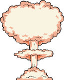 Nuclear explosion Stock Image