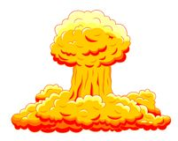 Nuclear explosion Stock Images