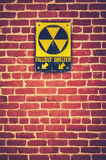 Nuclear Fallout Shelter Sign Royalty Free Stock Photos