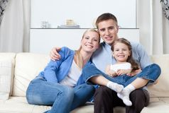 Nuclear Family Stock Photo
