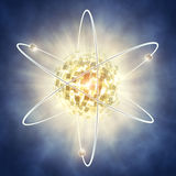 Nuclear fission Royalty Free Stock Image