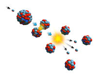 Nuclear fission Stock Photo