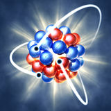 Nuclear fission royalty free illustration